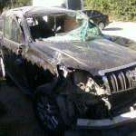 Toyota после сильной аварии
