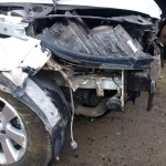 Volkswagen с разбитым передом